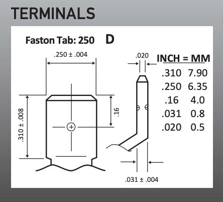 NPX-L35FR Terminals